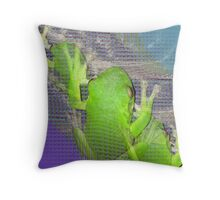 The Real Frogger Throw Pillow