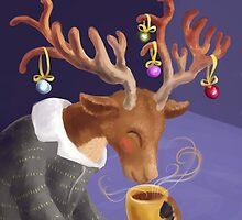 Hot chocolate for a reindeer by Petra van Berkum