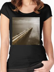 the break water 06 Women's Fitted Scoop T-Shirt