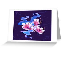 Magnolia night Greeting Card