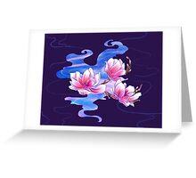 Magnolia night Greeting Card