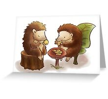 Hedgehog tea party Greeting Card
