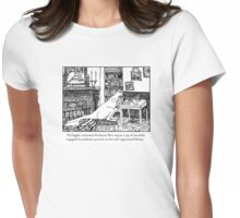 Kangaroo in the Library Womens Fitted T-Shirt