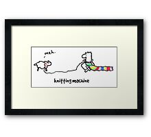 Nosebody - Knitting Machine Framed Print