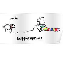 Nosebody - Knitting Machine Poster