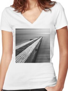 the break water 04 Women's Fitted V-Neck T-Shirt