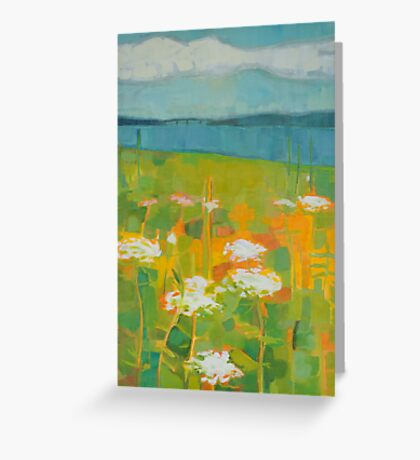 Hazy Meadow Greeting Card