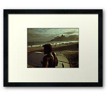 Ipanema Beach Framed Print