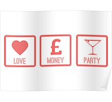 LOVE MONEY PARTY - Peach Poster
