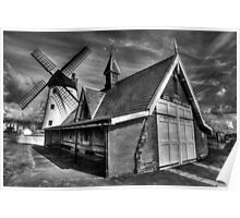Lythams Lifeboat Station and Windmill Poster