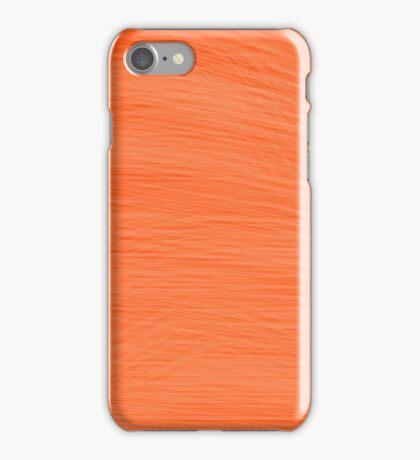 Dark Orange Sunset Brush iPhone Case/Skin