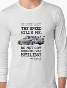 Paul Walker Tribute GTR - Halftone Long Sleeve T-Shirt