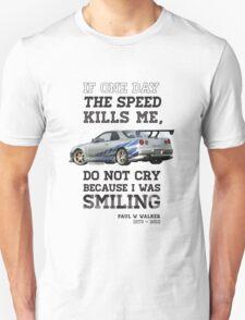 Paul Walker Tribute GTR - Halftone Unisex T-Shirt