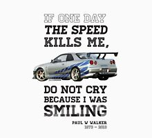 Paul Walker Tribute GTR - Halftone Unisex T-Shirt