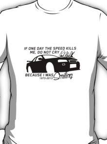 Paul Walker Sig. Tribute GTR - Black T-Shirt
