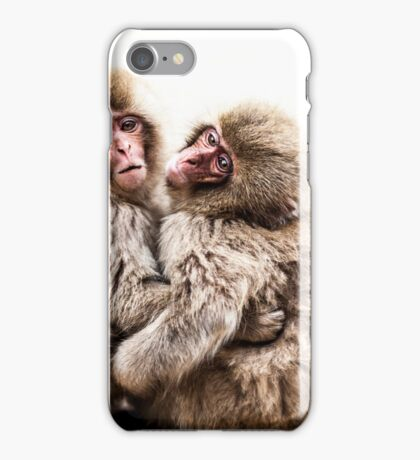 Snow Monkeys - Jigokudani Monkey Park, Japan iPhone Case/Skin
