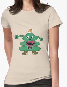 New Year Tree Cute Monster Womens Fitted T-Shirt