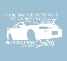 Paul Walker Sig. Tribute GTR - White Kids Clothes