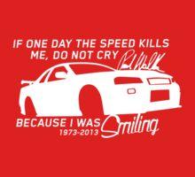 Paul Walker Sig. Tribute GTR - White Kids Clothes