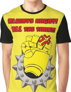 Tabletop gaming - always angry, all the time - powerfist Graphic T-Shirt