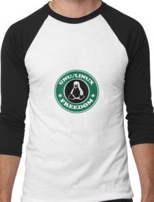 GNU/Linux Men's Baseball ¾ T-Shirt