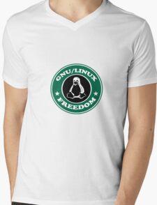 GNU/Linux Mens V-Neck T-Shirt
