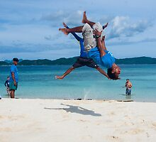 Beach Acrobatics by Paul Weston