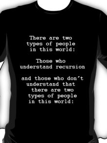 Recursion (Dark background) T-Shirt