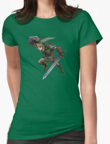 Link with sword Womens Fitted T-Shirt