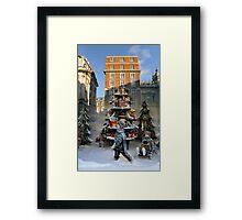 Shopping in London at Christmas Framed Print