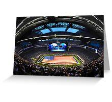 US Flag in Stadium Greeting Card