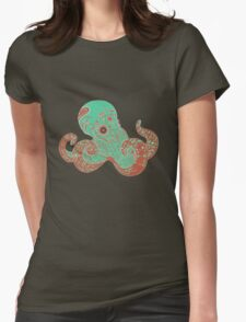 Camouflage of the Octopi Womens Fitted T-Shirt