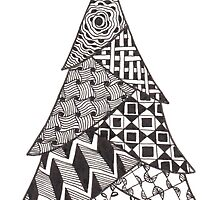 Zentangle Christmas Tree 012 by Ryan Elizabeth Woelfel