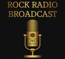Rock Radio Broadcast Gold decoration Clothing & Stickers by goodmusic