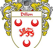 Dillon Coat of Arms/Family Crest by William Martin