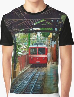 Corcovado Rack Railway at Station  Graphic T-Shirt