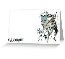 Metal Gear Solid 2 Greeting Card