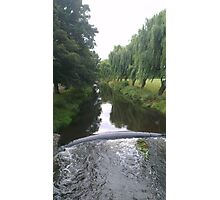 Tree Lined River  Photographic Print