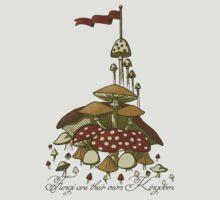 Fungi are their own Kingdom Grey by Jessie Sima