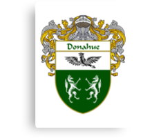 Donahue Coat of Arms/Family Crest Canvas Print