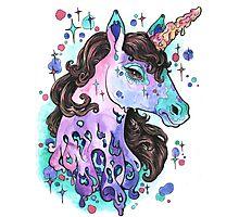Melting Unicorn Photographic Print