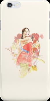Katniss floral phonecase by anyaquamarine