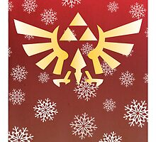 Legend of Zelda - Festive Triforce  by bigcatmatty