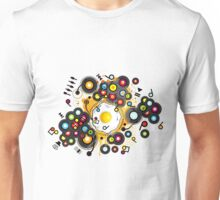 Funny_Fried_Egg Unisex T-Shirt