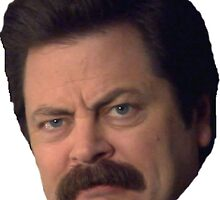 Ron Swanson by Lesternyguarded
