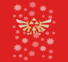 Legend of Zelda - Festive Triforce T- Shirt by bigcatmatty