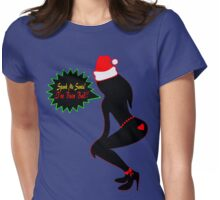 ټ♪♥Spank Me Santa, I've been Bad-Naughty-Fun X-Mas Clothing & Stickers♥♪ټ    Womens Fitted T-Shirt