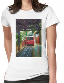 Corcovado Rack Railway at Station  Womens Fitted T-Shirt