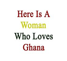 Here Is A Woman Who Loves Ghana  Photographic Print