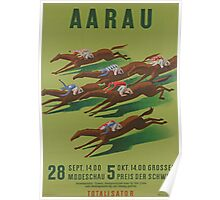 Poster for Horse Racing at Aarau Poster
